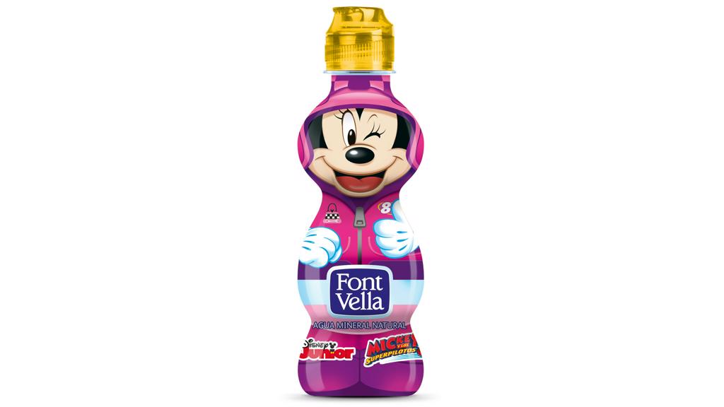 Small Font Vella bottle with Minnie on the packshot