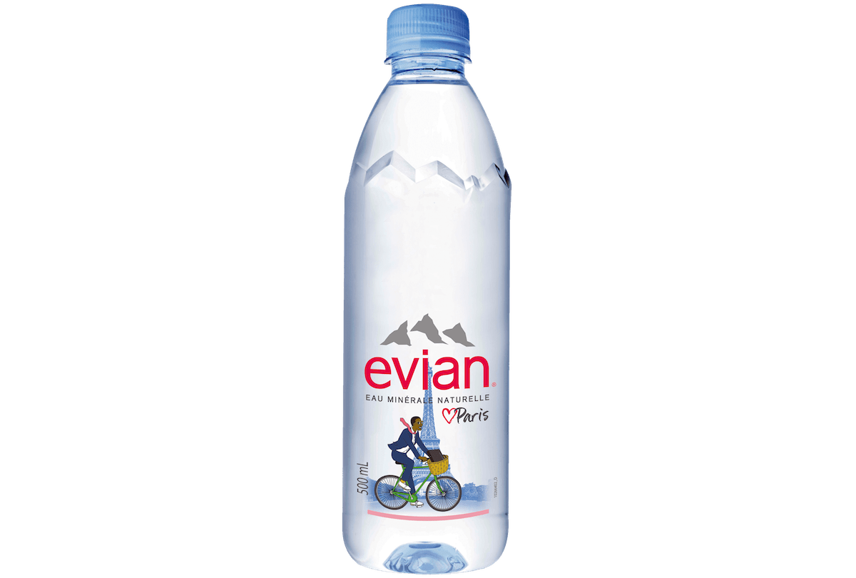 evian 500 mL bottle