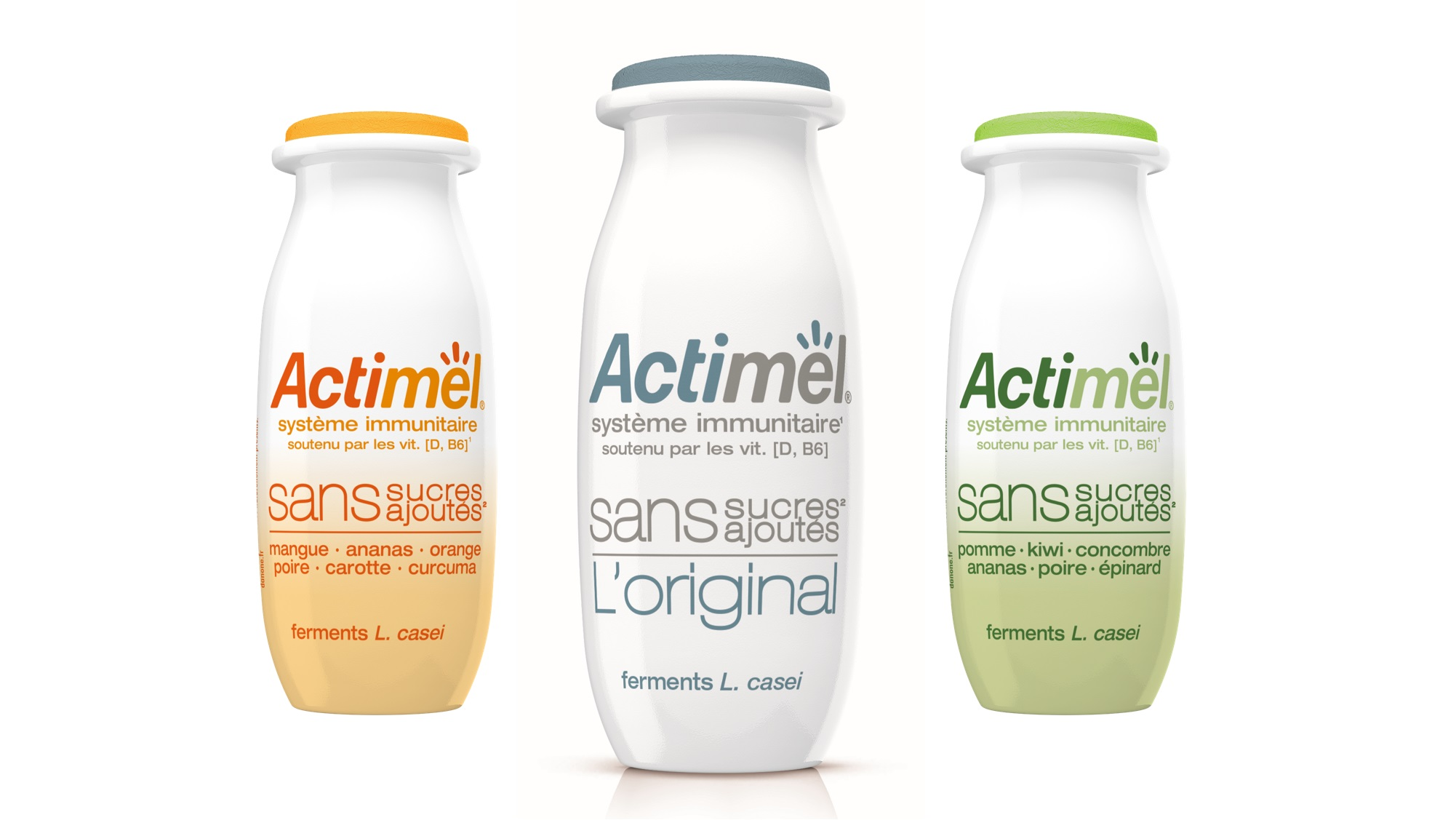 The new Actimel with no added sugars!