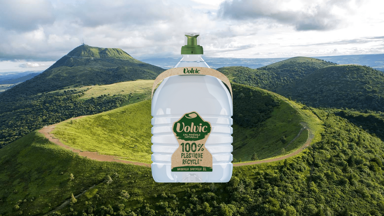 Bigger and better, meet Volvic's first 100% recycled PET bottle
