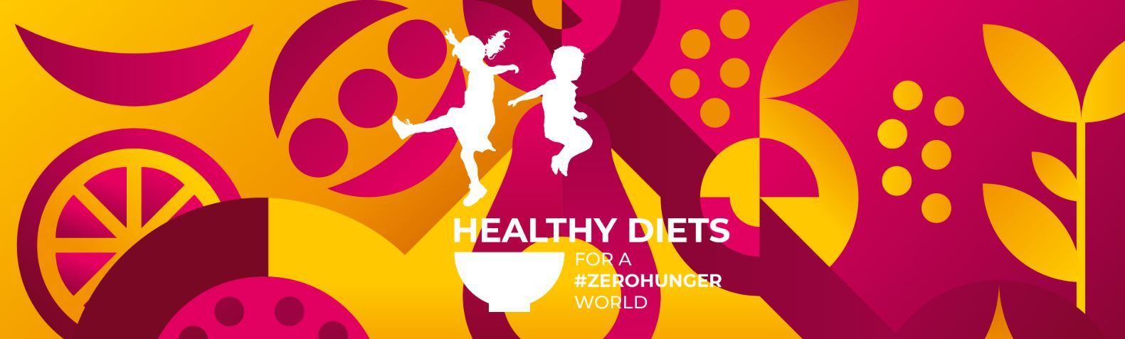 World Food Day illustration - Healthy diets for a #ZeroHunger World